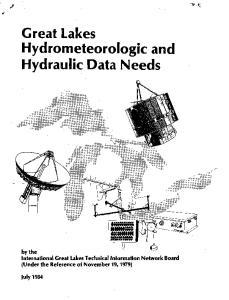 Great Lakes Hydrometeorologic and Hydraulic Data Needs