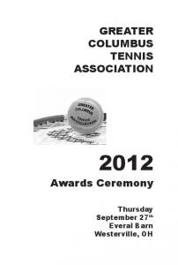 GREATER COLUMBUS TENNIS ASSOCIATION