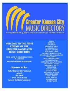 GREATER KANSAS CITY MUSIC DIRECTORY
