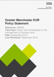 Greater Manchester EUR Policy Statement