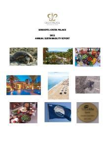 GRECOTEL CRETA PALACE 2015 ANNUAL SUSTAINABILITY REPORT