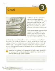 Greed. Session. 26 Date of My Bible Study: