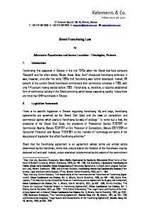 Greek Franchising Law
