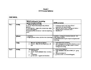 Greek I CTY Course Syllabus