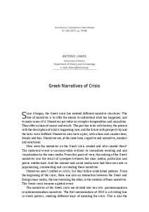Greek Narratives of Crisis