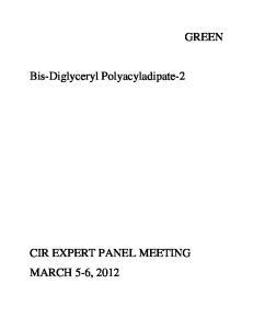 GREEN. Bis-Diglyceryl Polyacyladipate-2