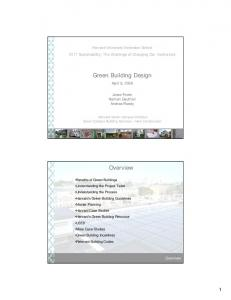 Green Building Design. Overview