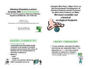 GREEN CHEMISTRY GREEN CHEMISTRY