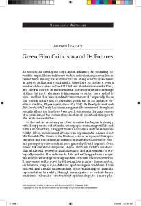 Green Film Criticism and Its Futures