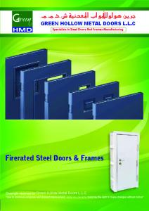 GREEN HOLLOW METAL DOORS L.L.C. Firerated Steel Doors & Frames. Green Hollow Metal Doors L.L.C GREEN HOLLOW METAL