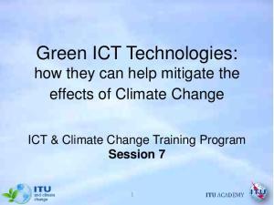 Green ICT Technologies: