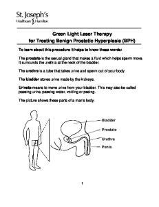 Green Light Laser Therapy for Treating Benign Prostatic Hyperplasia (BPH)