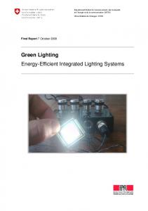 Green Lighting Energy-Efficient Integrated Lighting Systems