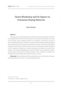 Green Marketing and Its Impact on Consumer Buying Behavior