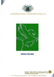 GREEN PEGASO. ITS International Team Services Global