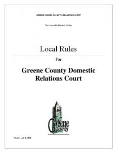Greene County Domestic Relations Court