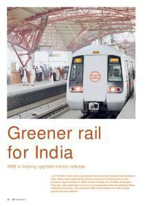 Greener rail for India