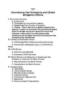 Greenhouse Gas Emissions and Global Mitigation Efforts