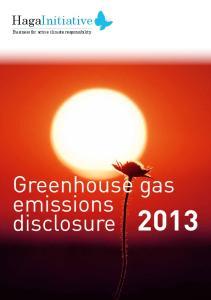 Greenhouse gas emissions disclosure 2013