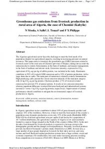 Greenhouse gas emissions from livestock production in rural area of Algeria, the case of Chemini (Kabylie)