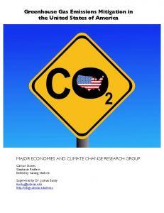 Greenhouse Gas Emissions Mitigation in the United States of America