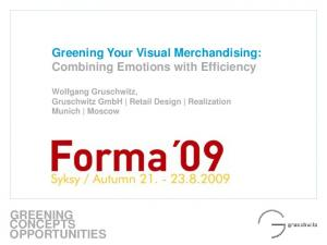 Greening Your Visual Merchandising: Combining Emotions with Efficiency