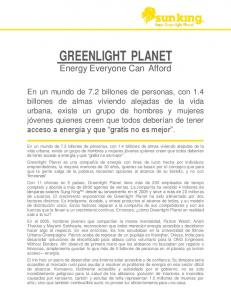 GREENLIGHT PLANET. Energy Everyone Can Afford
