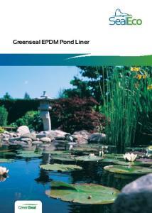 Greenseal EPDM Pond Liner