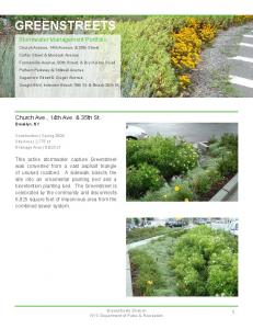 Greenstreets GREENSTREETS. Stormwater Management Portfolio. Church Ave., 14th Ave. & 35th St. Brooklyn, NY