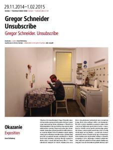 Gregor Schneider Unsubscribe Gregor Schneider. Unsubscribe