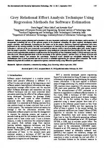 Grey Relational Effort Analysis Technique Using Regression Methods for Software Estimation