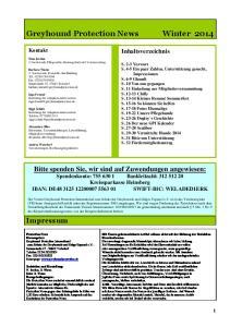Greyhound Protection News Winter 2014