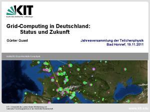 Grid-Computing in Deutschland: Status und Zukunft