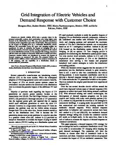 Grid Integration of Electric Vehicles and Demand Response with Customer Choice
