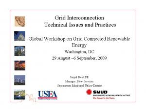 Grid Interconnection Technical Issues and Practices