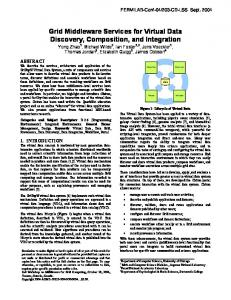 Grid Middleware Services for Virtual Data Discovery, Composition, and Integration