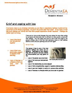 Grief and coping with loss