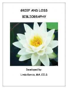 GRIEF AND LOSS BIBLIOGRAPHY