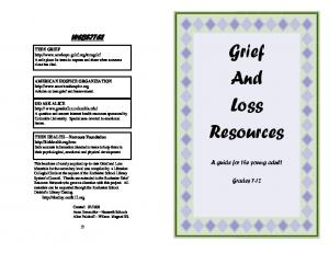 Grief And Loss Resources