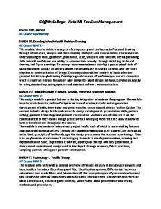 Griffith College - Retail & Tourism Management