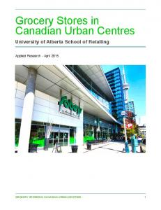 Grocery Stores in Canadian Urban Centres