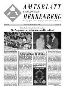 Große Kreisstadt. Woche 42 Donnerstag, den 16. Oktober 2008 Jahrgang 16. Städtischer Seniorennachmittag in der Stadthalle