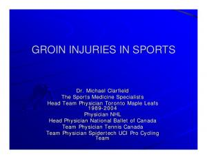 GROIN INJURIES IN SPORTS