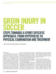 GROIN INJURY IN SOCCER