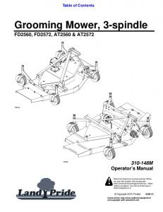 Grooming Mower, 3-spindle