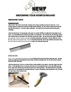 GROOMING YOUR NEWFOUNDLAND