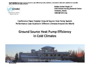 Ground Source Heat Pump Efficiency in Cold Climates