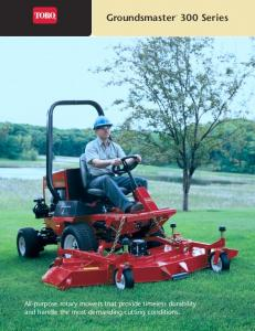 Groundsmaster 300 Series