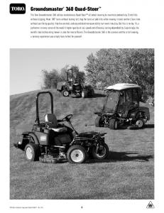Groundsmaster 360 Quad-Steer