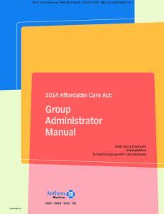 Group Administrator Manual